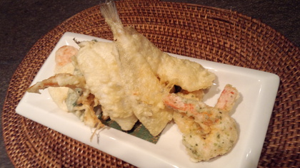 きすの天ぷら 夏野菜の盛り合わせ
