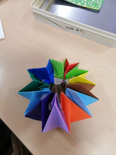 万華鏡 方 折り紙 折り