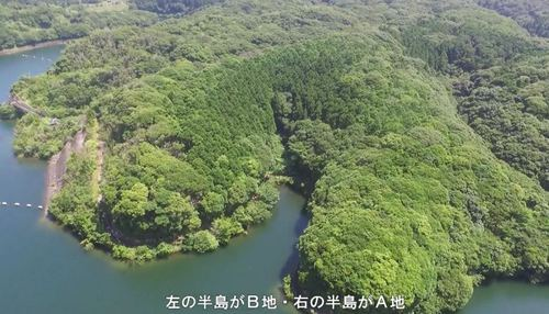 西之表市西之表西京ダム湖接【売地】山林4,895坪1,000万円